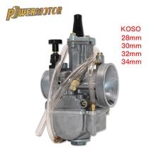 Карбюратор KOSO универсальный для мотоцикла, КАРБЮРАТОР мощностью 28, 30, 32, 34 мм, для 125cc, 250cc гоночных мотоциклов, питбайков, мотоциклов