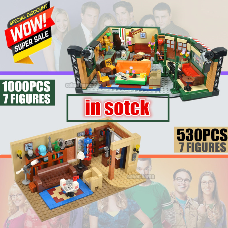IN STOCK Classic TV American Drama Central Perk Cafe The Big Bang Theory Friends Building Block Bricks 21319 21302 Toy Gift Kid image