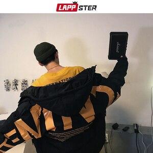 Image 4 - LAPPSTER Men Streetwear Oversized Bubble Jacket 2020 Parka Mens Letter Print Hip Hop Fashions Windbreaker Womens Korean Coats