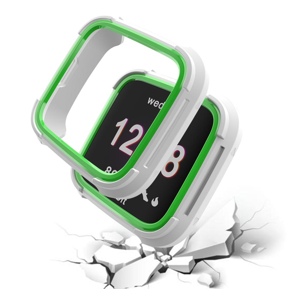 6 Colors Tpu And PC Case For Fitbit Versa Band Watch Shell Cover Screen Protector Smartwatch Accessories For Fitbit Versa Lite in Smart Accessories from Consumer Electronics