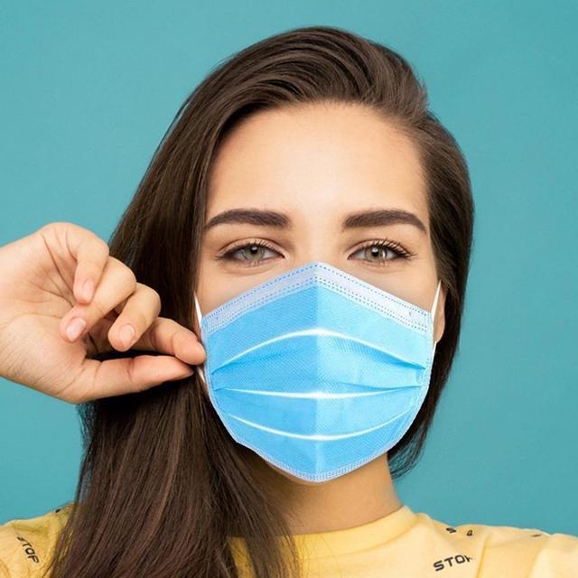 50/10pcs Disposable Mask Anti-dust Safe Breathable Mouth Mask Kids Adult Ear loop Face Filter Masks respirator Blue 1