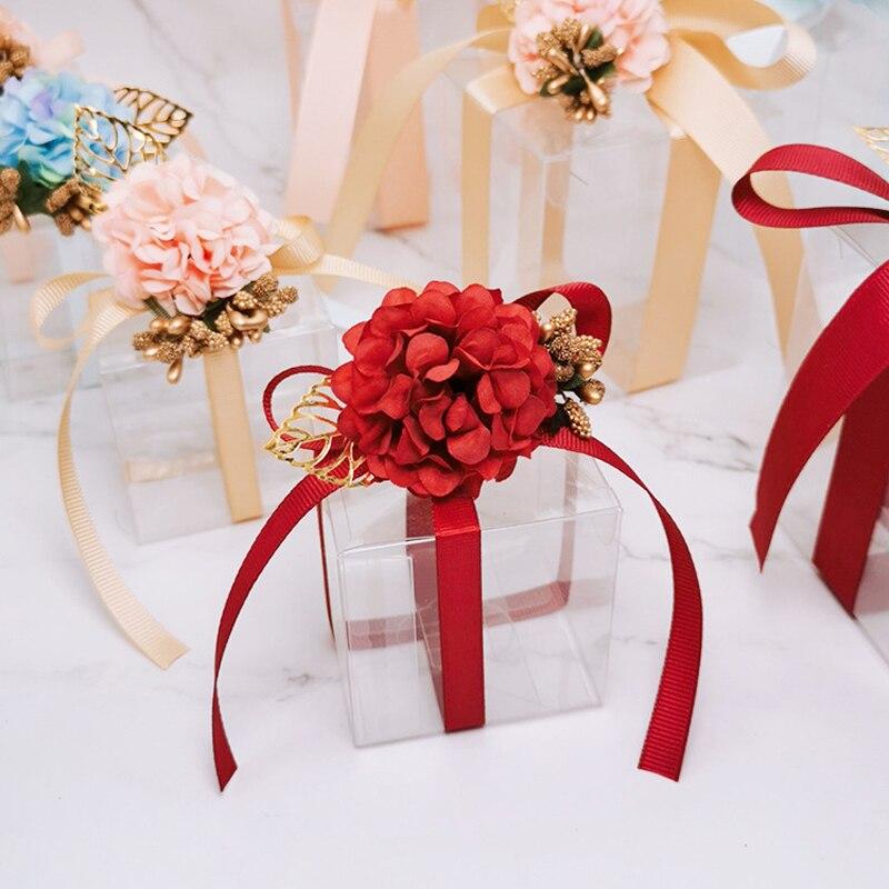 20 шт./лот коробки для конфет в сочетании с прозрачным ПВХ-материалом; Туфли свадебные сувениры и подарки коробка из нержавеющей стали, квадр...