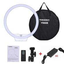 YONGNUO YN608 Studio anneau LED Flexible lumière vidéo 3200 5500k lumière photographique sans fil télécommande + adaptateur secteur