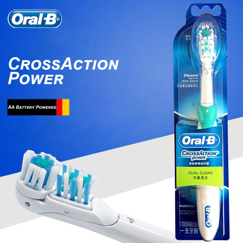 Oral B Electric Toothbrush Cross Action Dual Rotation & Vibration AA Battery Powered 7200s Replaceable Tooth Brush Head image