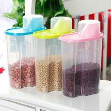 2.5L Large Rice Cereal Bean Dry Food Storage Dispenser Container Lid Sealed Box(China)