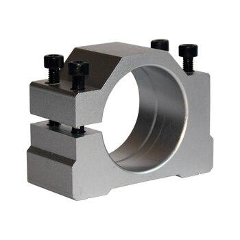 цена на cnc machine fixture clamp spindle motor bracket seat cnc clamp motor holder aluminum 48/50/52/62/65/80/85/100/105/120/125mm