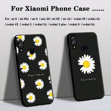 Telefon Fall Für xiaomi mi spielen mix 2S mi8se A2 Abdeckung Silikon mi 6X redmi 3s 4A 6 6A 4X 5 5a 5Plus Fall Rose Blume Floral Abdeckung