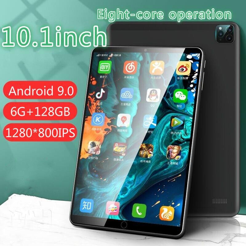 [Preço do carnaval] 6g + 128gb tablet pc 2021 novo 10.1 polegada grande tela do telefone móvel estudante jogo de aprendizagem android 9.0
