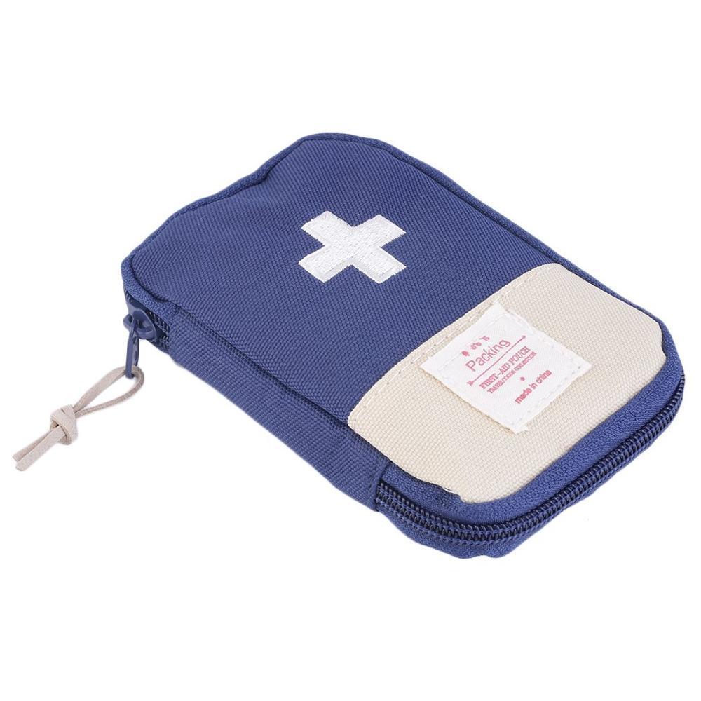 Аптечка первой помощи, медицинская сумка, прочная, для отдыха на природе, для дома, для выживания, портативная, сумка для первой помощи, сумка, чехол, портативная, 3 цвета на выбор - Цвет: Dark Blue