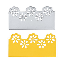 Diyarts Flower Border Metal Cutting Dies for Card Making Scrapbooking Embossing Stencil Craft Frame Lace