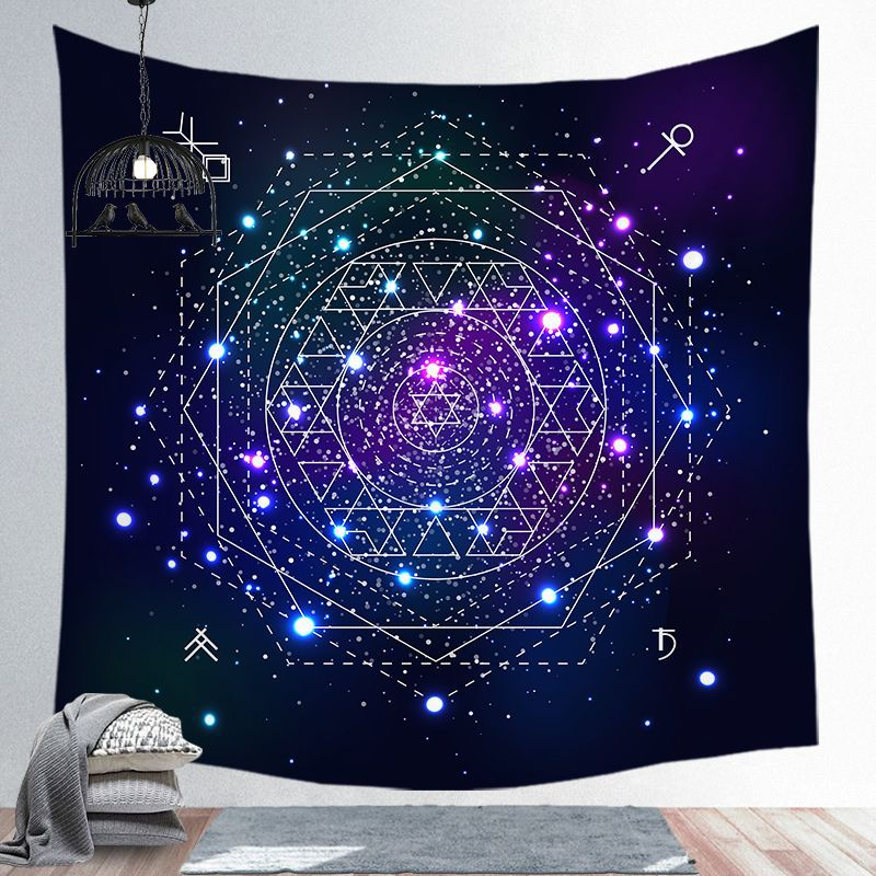 Galaxy Tapestry Wall Multipurpose Hanging Home Decoration Wall Carpet Tapestry Starry Sky Constellation Elements Full Pattern