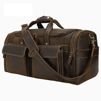 MAHEU New Design Genuine Leather Travel Bag Crazy Horse Leather Duffle Bag of Male Man's Travelling Luggage travel business bag