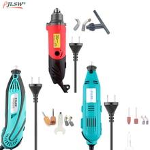 EU 220V Mini Electric Drill Grinder Accessories Regulating Speed Drill Grinding Machine Milling Polishing Dremel Rotary Tools цена