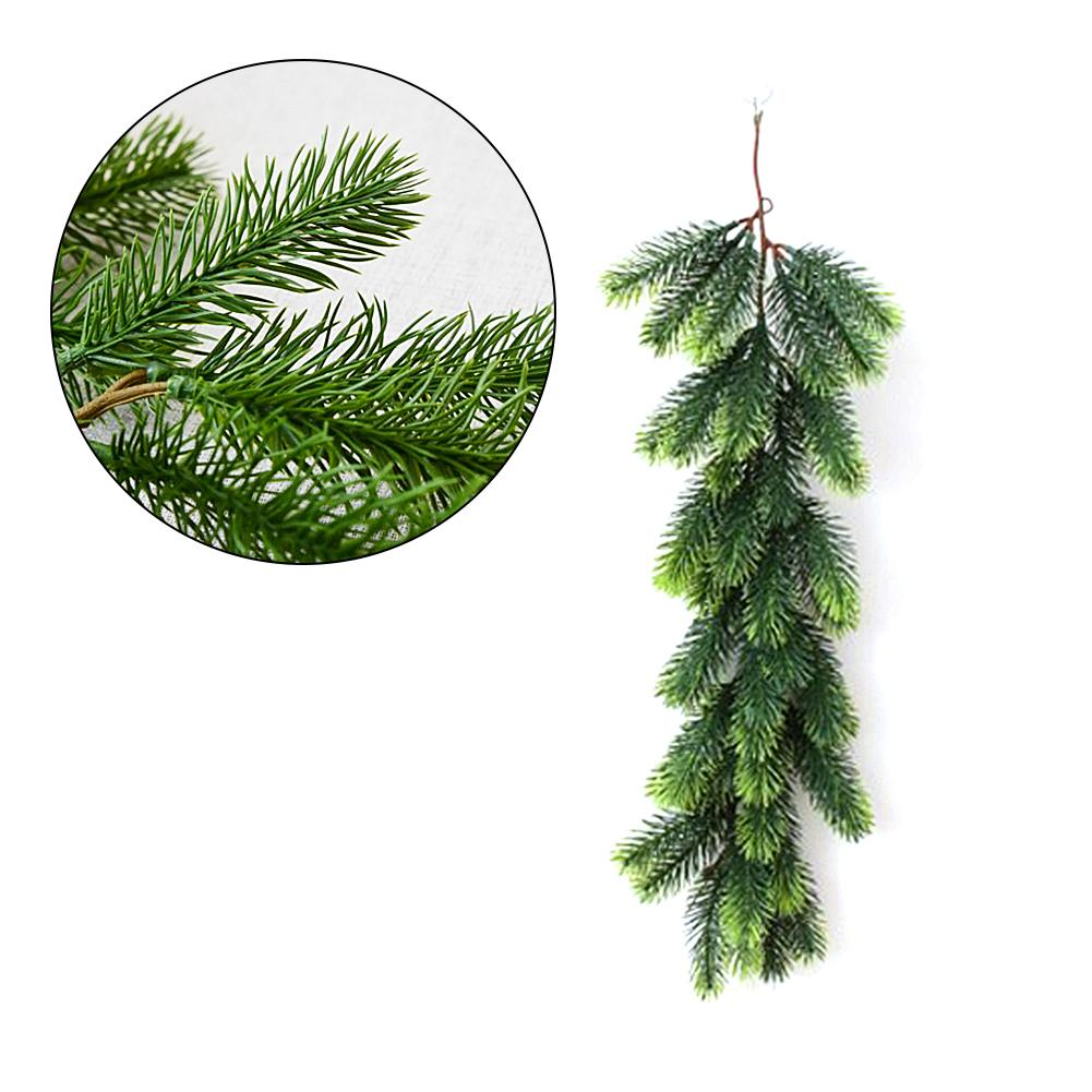 55cm Long Artificial Rattan Christmas Pine Garland Simulation Hanging Green Wreath For Christmas Xmas Tree Decorations For Home