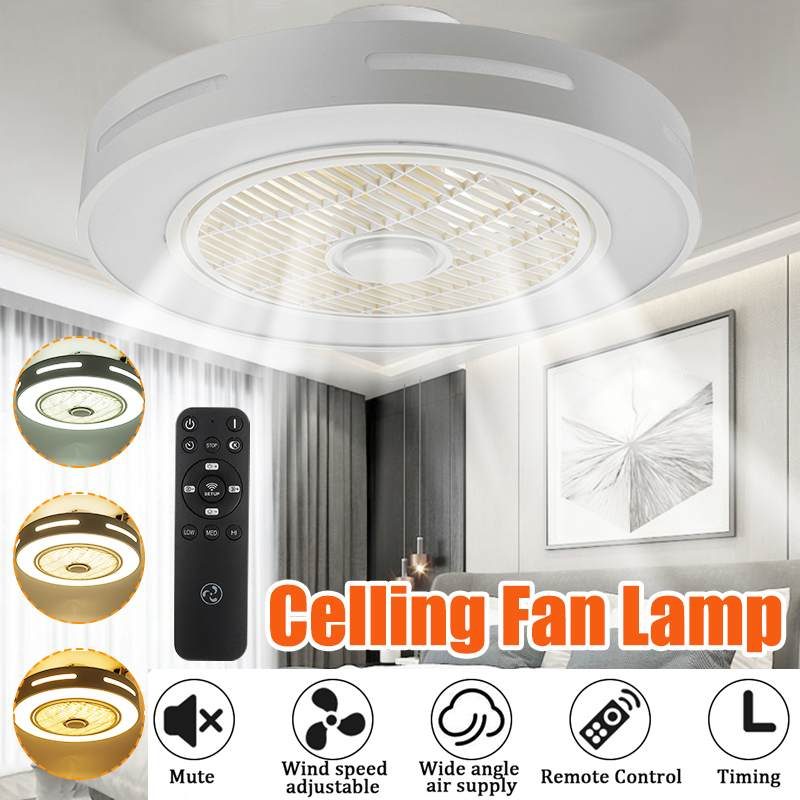 Modern Trendy LED Ceiling Fans Lights 72W Ceiling Lights With 3 Colors Lighting&3 Gear Speed Lamp With Remote Control AC185-250V