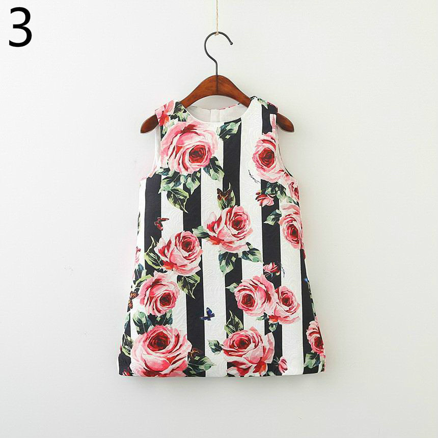143-5-Girls Flower Princess Sundress