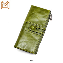Rfid Wallet Genuine Leather Head Layer Cowhide Three Wallet More Function Long Small Package
