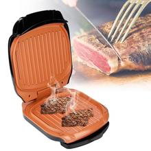 Electric BBQ Grill Mini Househol Double-sided Barbecue Machine Smokeless Grilled Meat Pan Electric Hotplate for Home Travel