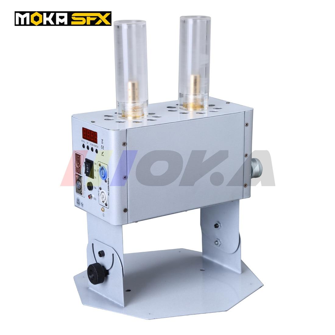Stage DMX 512 kaksoisputki LED CO2 -suihkukoneiden kryo-efektejä ilmaisia enkeleitä ammuntaan 8–12 metriä LED CO2 -suihkulaitetta