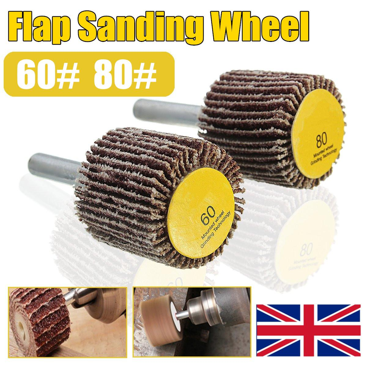 6mm Shank Sandpaper Grinding Wheel 60/80 Grit For Dremel Accessory Rotary Tool