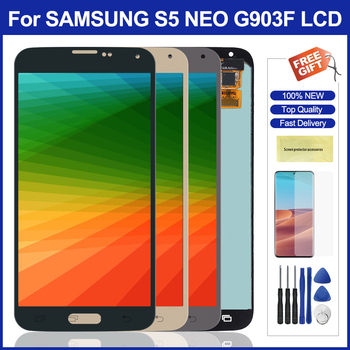 Original Lcd for Samsung Galaxy S5 Neo Lcd Display Touch Screen Digitizer Assembly Replacement for Samsung G903 G903F Screens image
