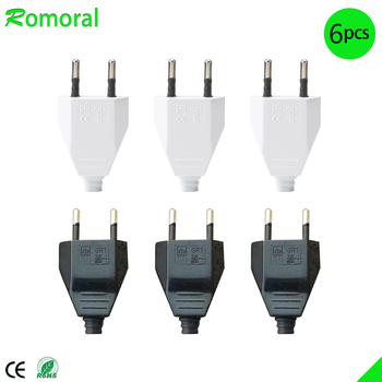 5m 1 pcs european 2pin male plug to angled iec320 c7 female socket power cable eu power adapter cord 4.0mm EU Male Female Butt VDE Power Cord Plug Power socket Europ EU plug Light-fixture 2 core Connection Plug.