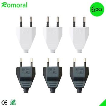 4.0mm EU Male Female Butt VDE Power Cord Plug Power socket Europ EU plug Light-fixture 2 core Connection Plug. homegeek eu plug
