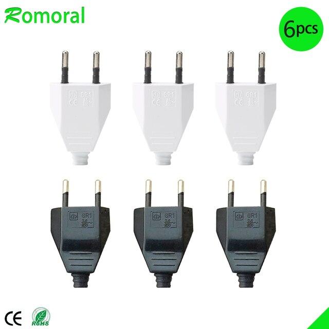 4.0mm EU Male Female Butt VDE Power Cord Plug Power socket Europ EU plug Light fixture 2 core Connection Plug.