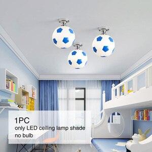 Image 5 - Children Balcony Sport Glass Indoor Coffee Bar For Boys Lighting Fixture LED Light Kids Room Football Shape