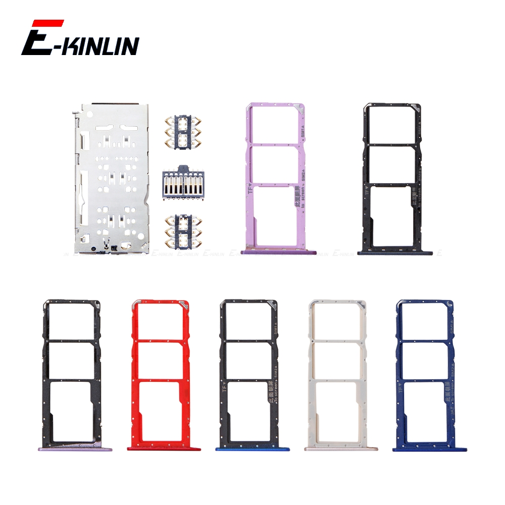 Sim Card / Micro SD Card Tray Socket Holder Slot Container Connector Adapter Reader For HuaWei Honor 8C 8X 8A Pro