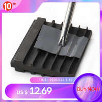DIY Handmade Leather Tool Steel Double Side Repair Tools For Sharpening Knife Wide Shovel Edger Skiving Cutting Leather Craft
