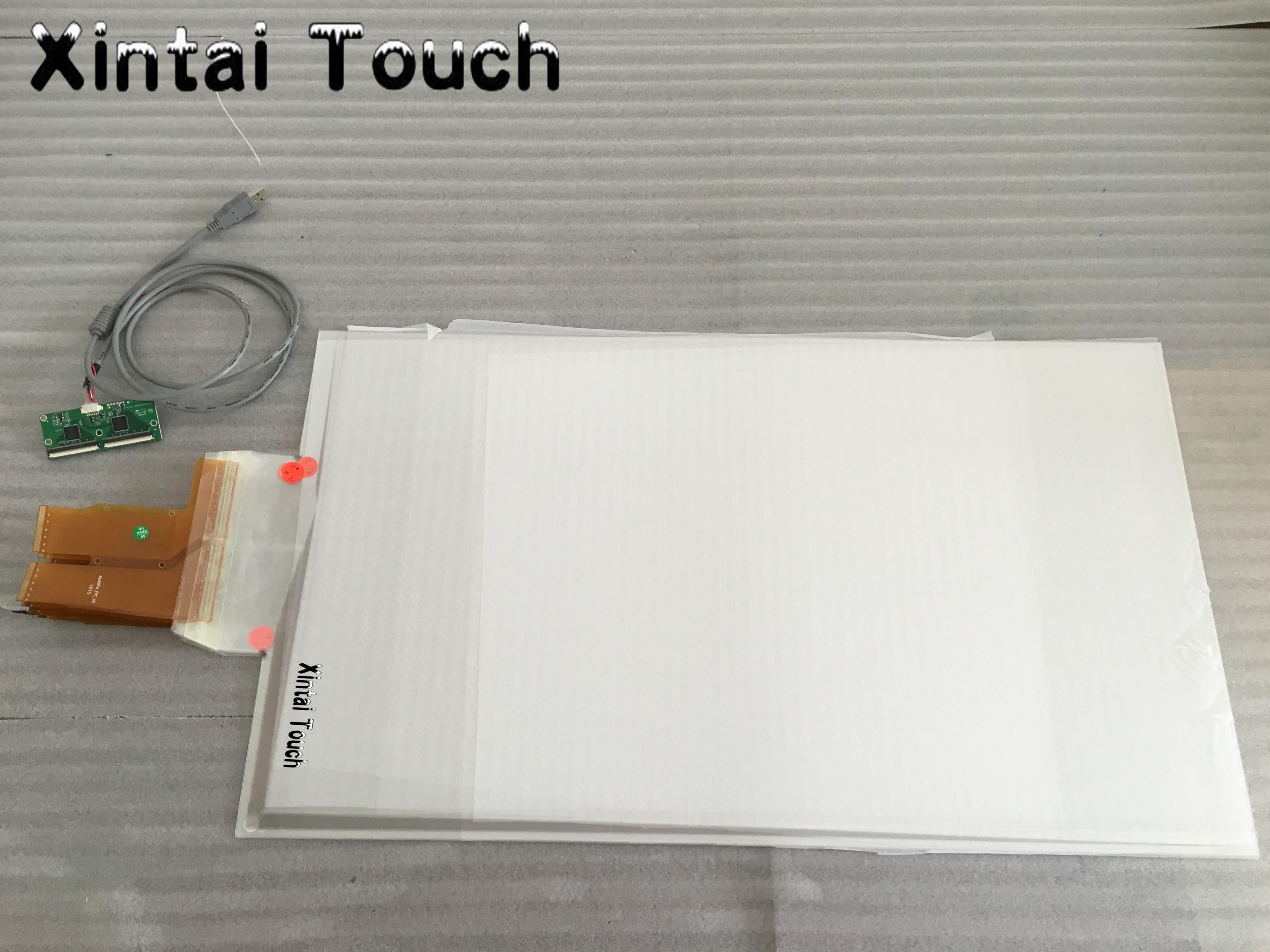 """27"""" High Sensitive Projection Capacitive Touch film, Interactive Touch Foil, 10 Touch Points, USB Controller"""