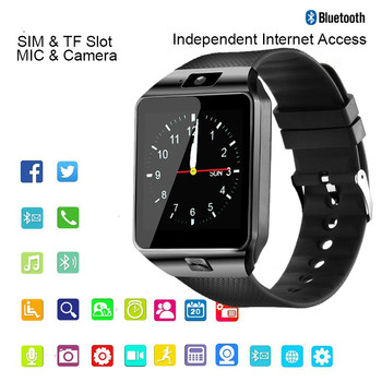 цена на Smart Watch men android phone bluetooth Watch Waterproof Camera Sim Card Smartwatch Call Bracelet Watch Women DZ09 Free shipping