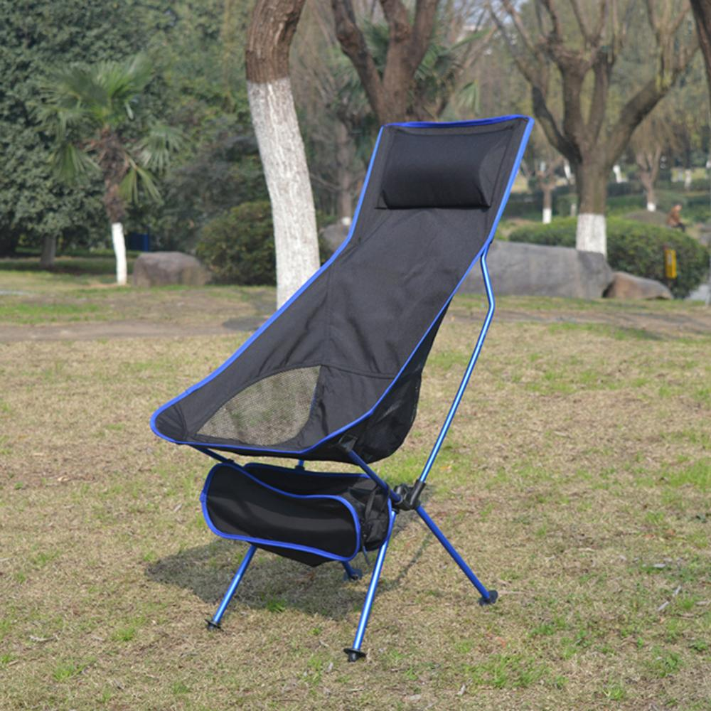 Outdoor Camping Chair Folding Fishing Chair Beach Seat Ultralight Garden BBQ Picnic Oxford Cloth Chair Seat Stool With Bag