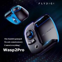 Flydigi Wasp 2 Pro Gamepad de una mano PUBG COD artefacto periférico auxiliar agarra automáticamente un vestido de un clic con puntos