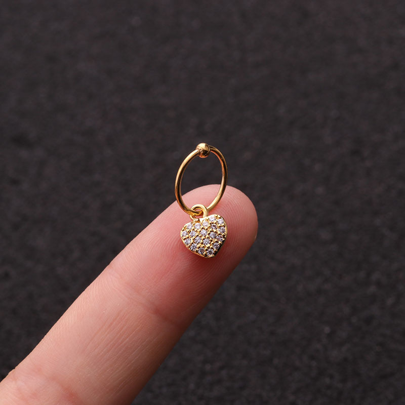 20 Styles Cz Pendant Dangle Hoop Cartilage Earring Helix Tragus Rook Lobe Ear Piercing Jewelry Choose Your Finish