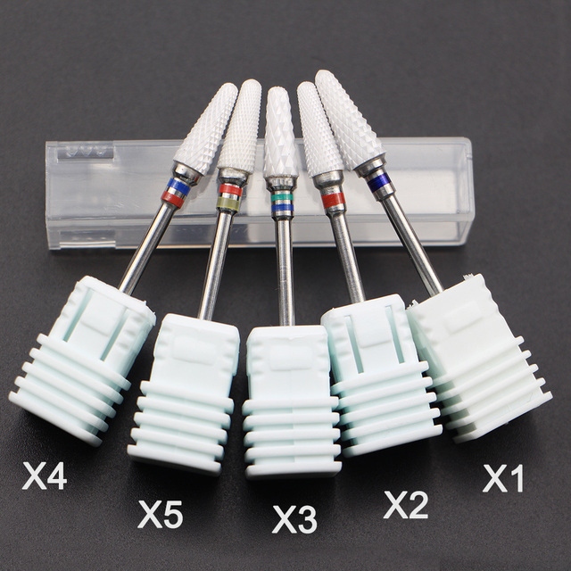 Most Complete 27 Type Ceramic Nail Drill Bit For Electric Drill Machine Manicure Accessory Ceramic Milling Cutter Nail File Tool 3