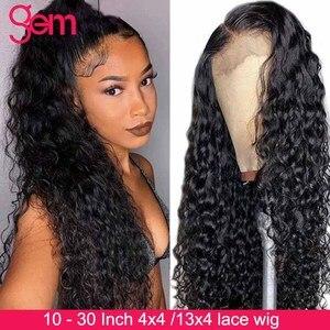 Image 2 - Peluca de ondas al agua con encaje Frontal, pelucas de cabello humano malayo, Remy, peluca de onda de encaje Frontal de agua de 30 pulgadas, 4x4, pelucas con cierre de encaje