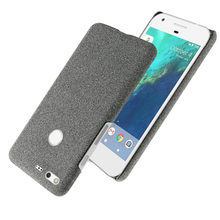 Funda ajustada con textura de tela para Google Pixel XL, Capa antideslizante ultrafina para Google Pixel 5,0