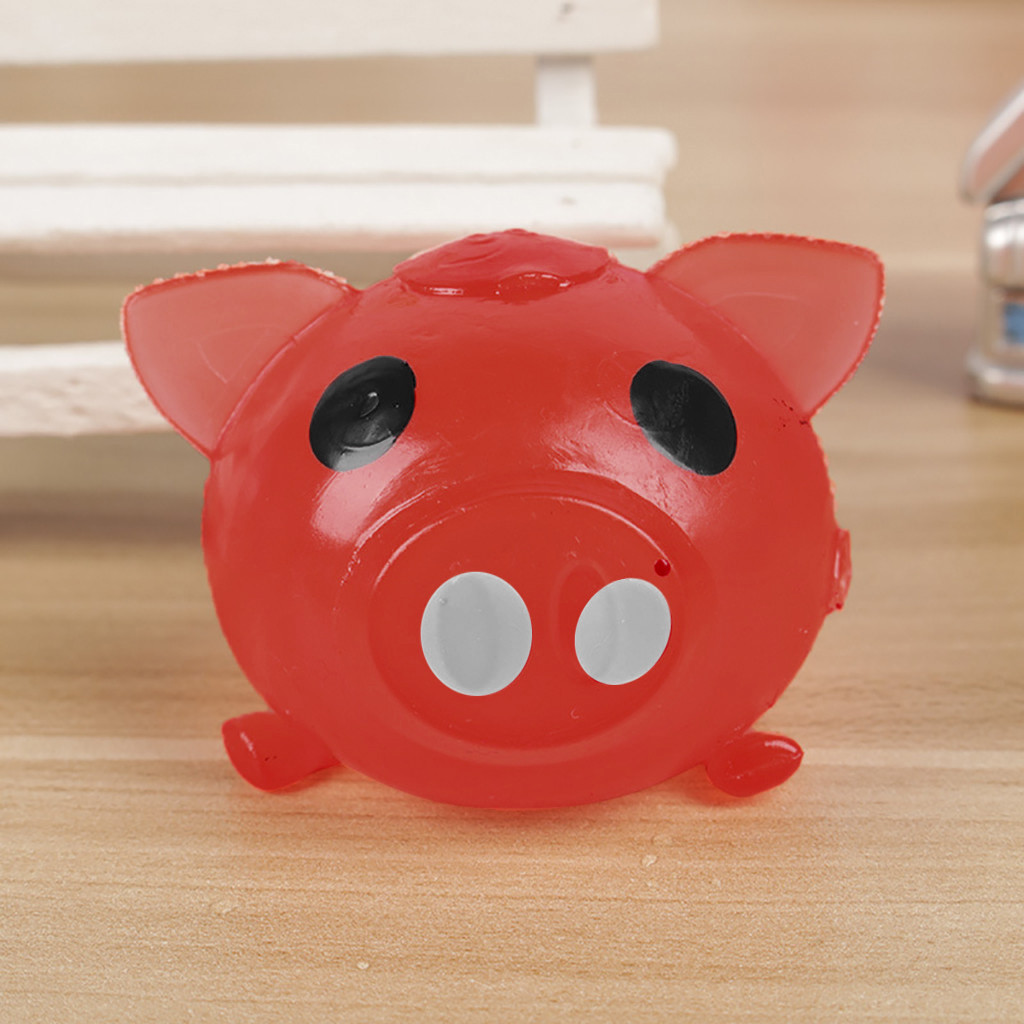 Squishy Toy 1Pc Jello Pig Cute Anti Stress Splat Water Pig Ball Vent Toy Venting Sticky Pig Squishy Soft Starting