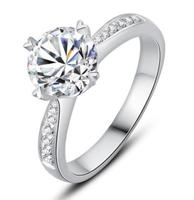 925 sterling silver 1ct Round Brilliant Cut Ring Diamond Moissanite Heart shaped ring Engagement jewelry Anniversary