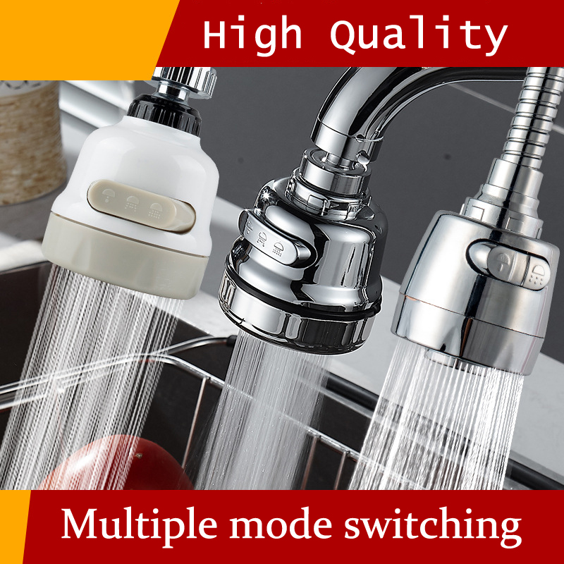 Kitchen Faucet Aerator 2/3 Modes 360 Degree Adjustable Water Filter Diffuser Water Saving Nozzle Faucet Connector Shower