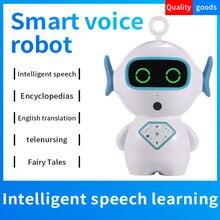 Robot teledirigido inteligente para niños, juguete con voz interactiva, música, Chat de voz, regalo de cumpleaños para chico