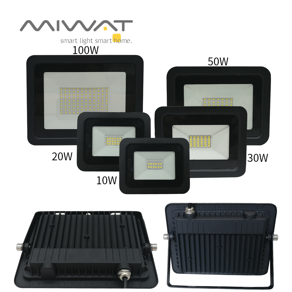 2pcs <font><b>LED</b></font> Floodlight <font><b>10W</b></font> 20W 30W 50W 100W 110V/220V Flood Light Searching Lamp IP68 <font><b>Reflector</b></font> Wall Spotlight Outdoor Lighting image