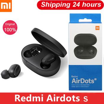 Xiaomi oryginalny Redmi Airdots S Airdots 2 słuchawki Mi Xiaomi słuchawki bezprzewodowe Bluetooth Air Dots słuchawki TWS słuchawki douszne tanie i dobre opinie Słuchawki Piston w wersji młodzieżowej Rohs Wyważone CN (pochodzenie) Prawdziwie bezprzewodowe 35dB 30mW Do gier wideo