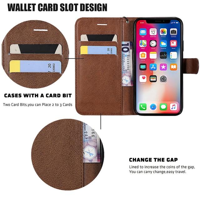 PU Leather Flip Wallet Case For Huawei P40 P30 P20 Pro P10 P9 P8 Lite 2017 P Smart 2019 Y5 Y6 Y7 Prime Y9 2019 2018 Cover Case 3