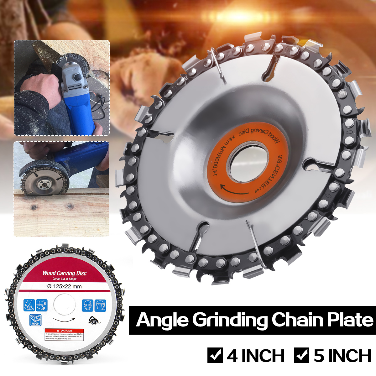 Professional 4/5 Inch Grinder Disc And Chain 22/14 Tooth Fine Abrasive Cut Chain For 100/115/125mm Angle Grinder