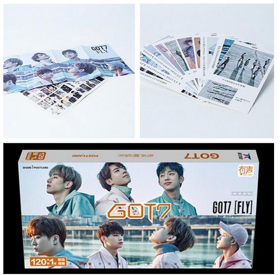 Kpop Latest Official GOT7 Set 121 Zhang Same Section   Album  Lyrics K-pop Got7 Gift Souvenir Sticker Concert