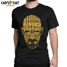 Vintage Breaking Bad T-Shirt mężczyźni Crewneck 100% bawełniane koszulki Heisenberg jestem niebezpieczeństwo koszulka z krótkim rękawem letnie ubrania