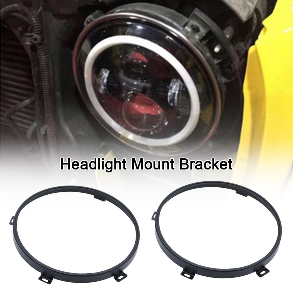 2PCC Headlight Bracket For Jeep Wrangler Modified LED Headlights Fixed Light Frame Mount Bracket 7IN